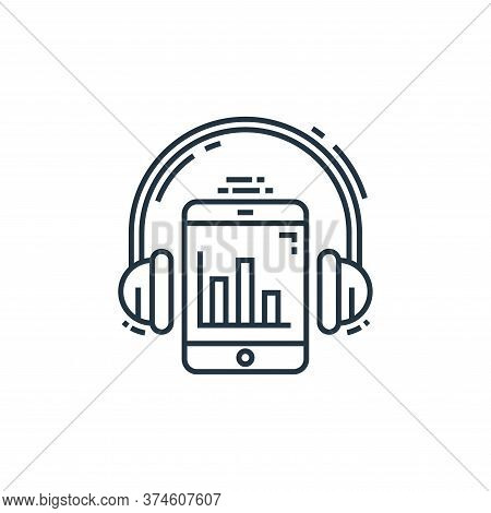 listening icon isolated on white background from environment and eco collection. listening icon tren