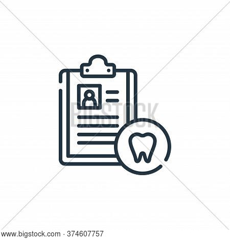 dental icon isolated on white background from dental care collection. dental icon trendy and modern
