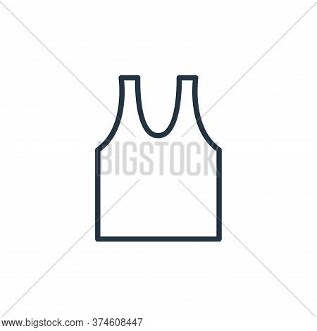 sleeveless shirt icon isolated on white background from wardrobe collection. sleeveless shirt icon t