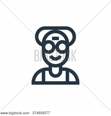 old icon isolated on white background from people collection. old icon trendy and modern old symbol