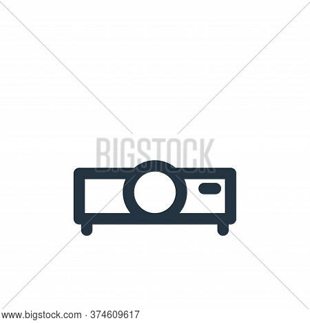 video projector icon isolated on white background from multimedia collection. video projector icon t