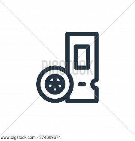 ticket icon isolated on white background from auto racing collection. ticket icon trendy and modern