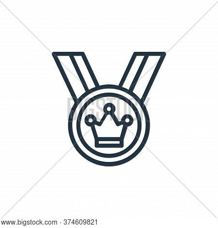 winner icon isolated on white background from chess game collection. winner icon trendy and modern w