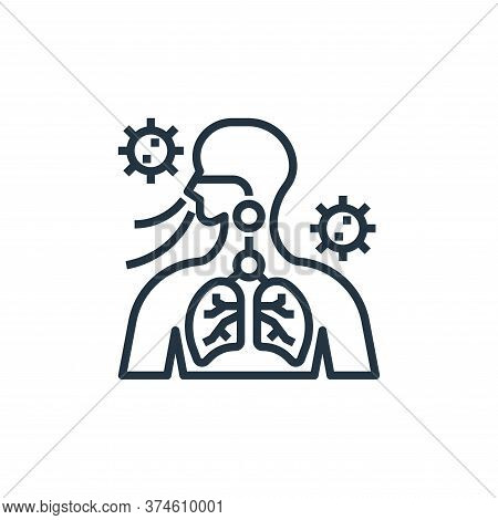 breathing icon isolated on white background from coronavirus collection. breathing icon trendy and m