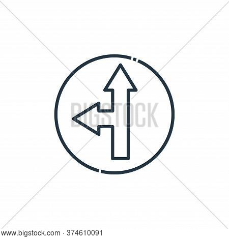 direction icon isolated on white background from signaling collection. direction icon trendy and mod