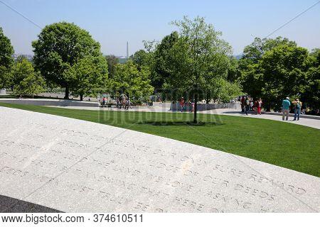 Arlington, Va, Usa - May 02, 2019: Arlington National Cemetery. Virginia. Usa