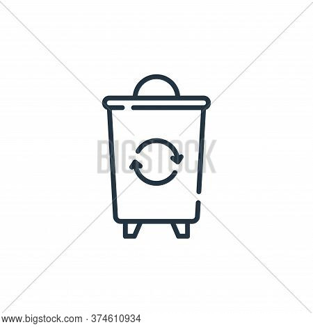 trash bin icon isolated on white background from hygiene routine collection. trash bin icon trendy a