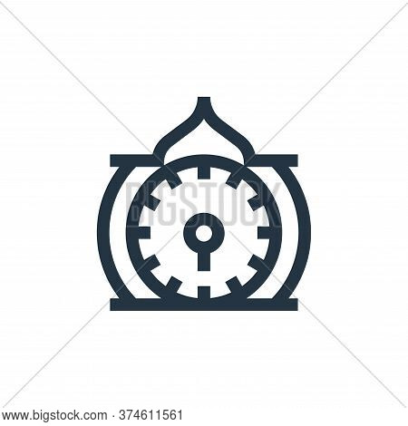 clock icon isolated on white background from ramadan collection. clock icon trendy and modern clock