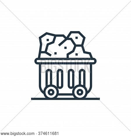 coal icon isolated on white background from climate change collection. coal icon trendy and modern c