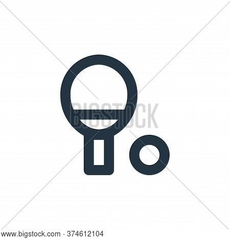 ping pong icon isolated on white background from sport collection. ping pong icon trendy and modern