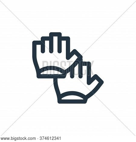 gloves icon isolated on white background from pilates collection. gloves icon trendy and modern glov