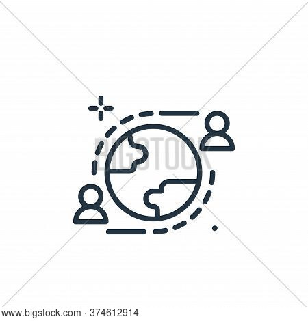 communication icon isolated on white background from work from home collection. communication icon t