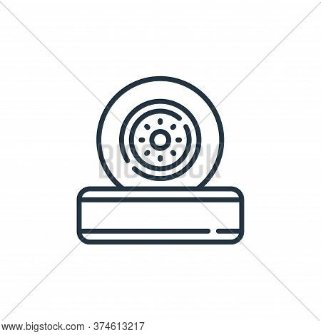 wheel icon isolated on white background from auto racing collection. wheel icon trendy and modern wh