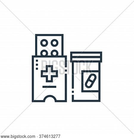 medicines icon isolated on white background from medical services collection. medicines icon trendy