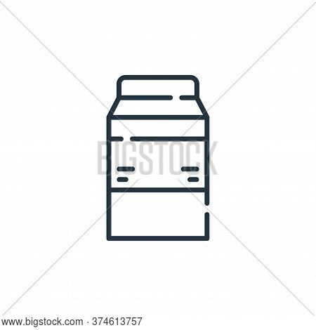 milk icon isolated on white background from allergies collection. milk icon trendy and modern milk s