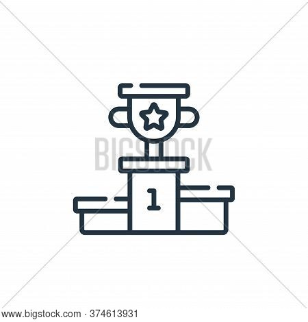 podium icon isolated on white background from videogame collection. podium icon trendy and modern po