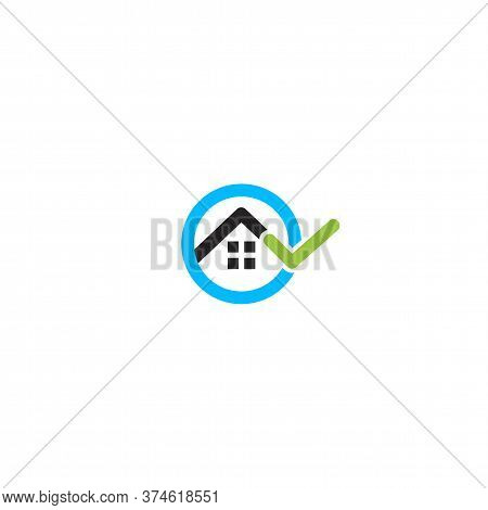 House Rent Search, Real Estate Logo. Rental Apartments Service Logotype. Apartment Sale Vector Minim