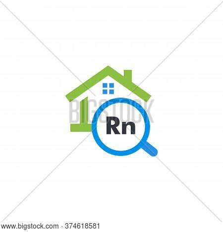 Radon Pollution Testing Service Graphic Icon. Isolated House Rent Search Website Logo. Real Estate S