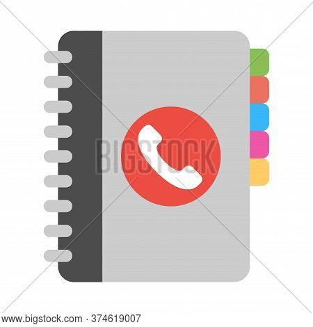Phone Book Icon. Telephone Directory Symbol. Modern Flat Icon Design For Perfect Web And Mobile Appl