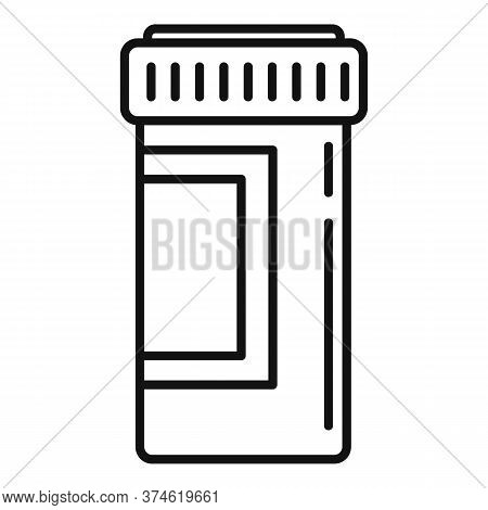 Anesthesia Pill Jar Icon. Outline Anesthesia Pill Jar Vector Icon For Web Design Isolated On White B