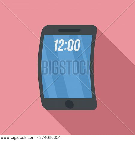 Foldable Phone Icon. Flat Illustration Of Foldable Phone Vector Icon For Web Design