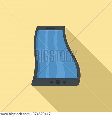 Modern Flex Screen Icon. Flat Illustration Of Modern Flex Screen Vector Icon For Web Design