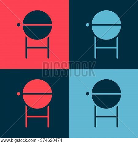 Pop Art Barbecue Grill Icon Isolated On Color Background. Bbq Grill Party. Vector Illustration
