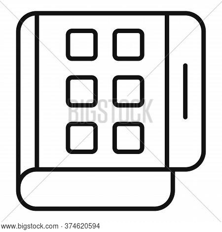 Flex Screen Fold Icon. Outline Flex Screen Fold Vector Icon For Web Design Isolated On White Backgro