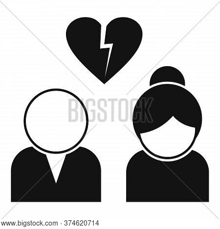 Divorce Icon. Simple Illustration Of Divorce Vector Icon For Web Design Isolated On White Background
