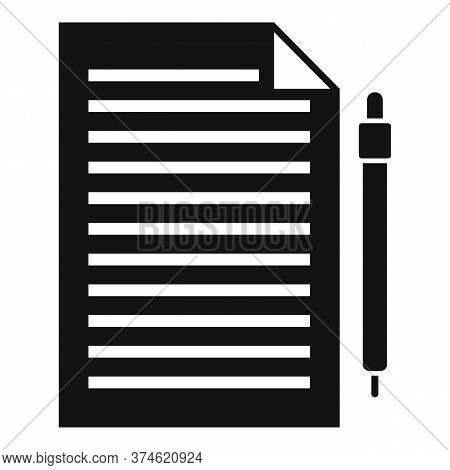 Divorce Petition Icon. Simple Illustration Of Divorce Petition Vector Icon For Web Design Isolated O