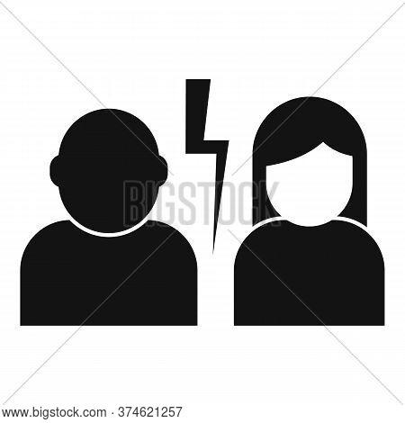 Divorce Couple Break Icon. Simple Illustration Of Divorce Couple Break Vector Icon For Web Design Is