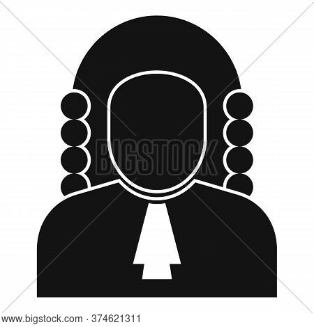 Courthouse Judge Icon. Simple Illustration Of Courthouse Judge Vector Icon For Web Design Isolated O