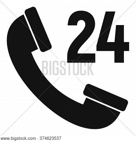 Web Telephone Service Center Icon. Simple Illustration Of Web Telephone Service Center Vector Icon F