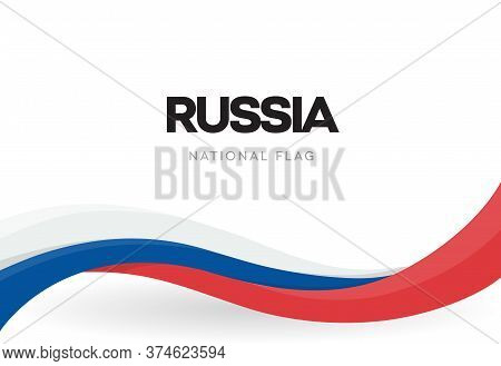 Russian Federation National Waving Flag Banner. Russia Unity Day Anniversary Poster. Independence Da