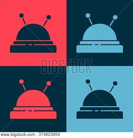 Pop Art Needle Bed And Needles Icon Isolated On Color Background. Handmade And Sewing Theme. Vector
