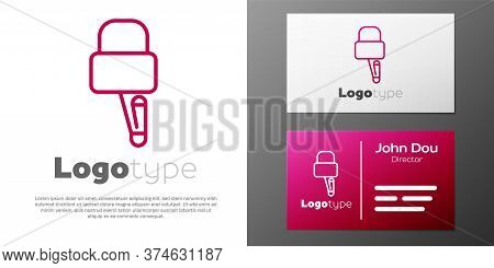 Logotype Line Lockpicks Or Lock Picks For Lock Picking Icon Isolated On White Background. Logo Desig