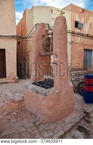The Berber Well In Sahara Desert, Algeria