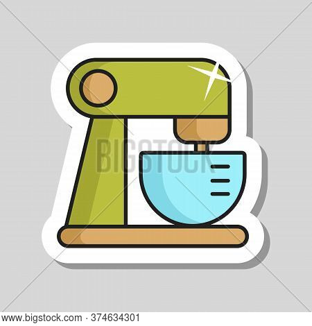 Food Processor. Mixing. Pureeing Foods. Electric Kitchen Appliance. Graph Symbol For Cooking Web Sit
