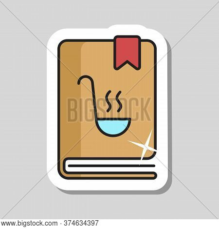 Cookbook Or Cookery Book Vector Icon. Recipe Book. Kitchen Appliance. Graph Symbol For Cooking Web S