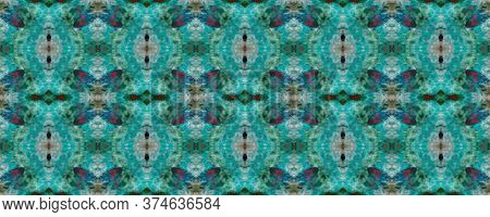 Original Tile Template.  Mexican Mosaic Design. Retro Fabric Ornate. Gentle Seamless Majolica Tiles