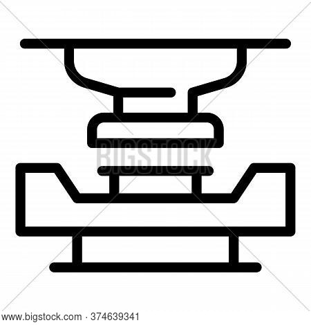 Steel Lathe Icon. Outline Steel Lathe Vector Icon For Web Design Isolated On White Background