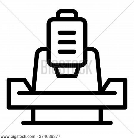 Boring Lathe Icon. Outline Boring Lathe Vector Icon For Web Design Isolated On White Background