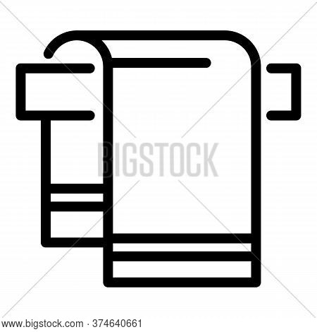 Hotel Towel Icon. Outline Hotel Towel Vector Icon For Web Design Isolated On White Background