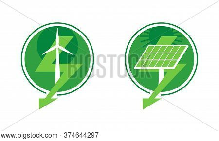 Renewable Energy - Green Energy Saving Technology With Alternative Sources Of Electricity - Wind Pow