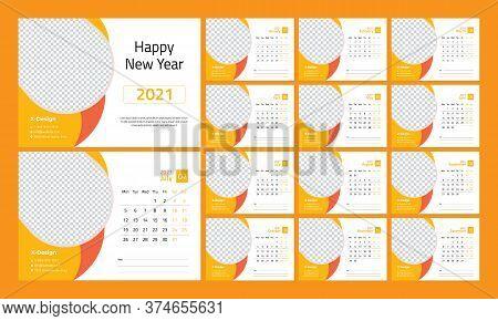 2021 Desk Calendar, Desk Calendar Template , 2021 Corporate Desk Calendar, 2021 Creative Desk Calend