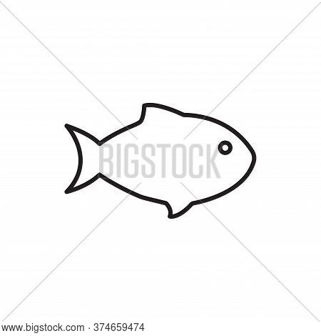 Fish Icon Isolated On White Background. Fish Icon In Trendy Design Style For Web Site And Mobile App