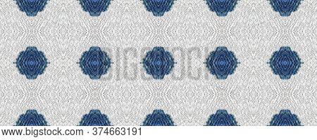 Original Tile Template.  Majolica Tiles Print. Rustic Floral Image. Indigo Seamless Decorative Art I