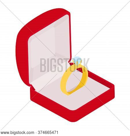 Wedding Ring Vector Engagement Symbol Gold Jewellery For Proposal Marriage Wed Sign Will You Marry M