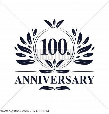 100th Anniversary Celebration, Luxurious 100 Years Anniversary Logo Design.