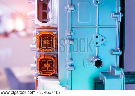 electric system of eco car front engine Automotive part concept